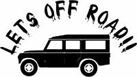 LETS OFF ROAD LAND ROVER 4X4 STICKER DEFENDER DECAL