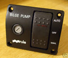 Marine bilge pump switch RULE 3 way 12v illuminated deluxe MODEL 43
