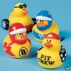 4 rubber ducks NASCAR racing race duckies 8 15