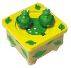 Wooden Music Box Dancing Magnetic Frogs NEW IN BOX