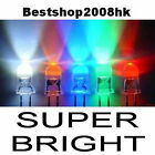 100 Pcs 5mm Red Blue Green Yellow White Amber LED Light