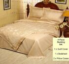 750TC JACQUARD EMBROIDERED QUEEN QUILT COVER + BEDSHEET