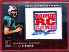 2008 Topps Letterman CHAD HENNE Rc Logo Patch Auto /19