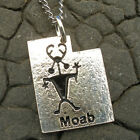 Moab Man, Utah Petroglyph, Hand Crafted Sterling Silver Necklace Pendant