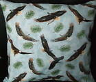 Set of 2 Throw Pillow Covers *EAGLES*SKY* PINES* BIRDS* Cotton Fabric