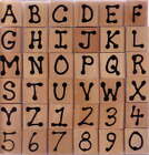 Dot Alphabet Wood Rubber Stamp Set for stampin up cards