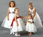US Angels Style 801 White w/ Red Dress Size 16 Girls