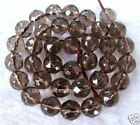 10mm Beautiful Smoky Quartz Round Faceted Beads 14.5''