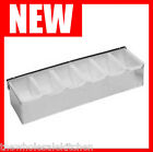 NEW STAINLESS STEEL 6 COMPARTMENT DISPENSER BAR CADDY