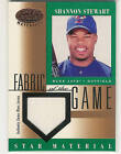 2001 LEAF CERTIFIED FABRIC OF THE GAME SHANNON STEWART JERSEY STAR MATERIAL