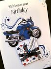 Personalised Motorbike Handmade Birthday Card
