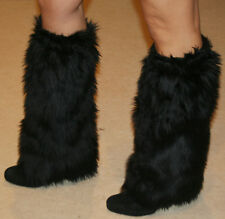 Furry Boot Covers, fuzzy leg warmers great for Halloween costumes made in USA