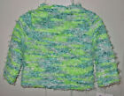 Flapdoodles TURQUOISE & LIME GIRLS SWEATER SZ 5 NWT