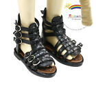 Dollfie SD Girl Doll Shoes Fishbone Roma Sandals Black