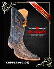 6X-TOE CAIMAN TAIL WESTERN COWBOY BOOTS BY LOS ALTOS