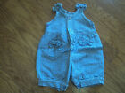 SF BLUES GIRLS ONE PIECE DENIM CHECKED OUTFIT 18 mos