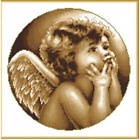 **Angel in think** counted cross stitch kits
