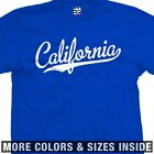California Baseball Script & Tail T-Shirt - Republic of Cali - All Size & Colors