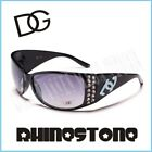DG Eyewear Sunglasses Womens Rhinestone Black B