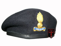 Royal Engineers Officers Blue Beret 58cm and Cap Badge