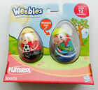 Playskool Weebles Sports 2 Figures Set, NEW by Hasbro