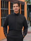 15 15.5 33-34 Laydown Collar Black Tuxedo Tux Shirt M4