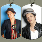 Bruno Mars Dog Tag with Beaded Chain