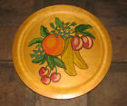 VINTAGE HAND PAINTED FRUIT WOOD CHARGER! DATED 1959
