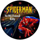 Personalized Spiderman Wall Clock