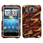 Yellow Camo Hard Case Snap On Cover for HTC Inspire 4G