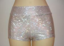 Dance Shorts Girls 4 to14 Hologram Lycra Various Colors