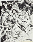 Tim Burgard Tarzan Illustration Original Art (1984)