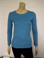 Womens Turquoise Long Sleeve T-Shirt Top Size 8 Ladies