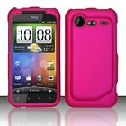 Rubber Rose Pink Hard Case Cover HTC Droid Incredible 2