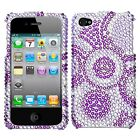 Wheel Crystal Diamond BLING Hard Case Snap On Phone Cover for Apple iPhone 4 4S