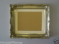Shabby Chic Silver Ornate 16x12 Picture Frame with Ivory Mount