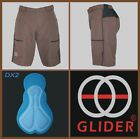 GLIDER Trail/Mountain bike Shorts w/pad BROWN (Small) CLEARANCE
