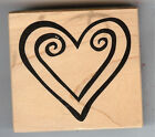 PSX Rubber Stamp F-1899 Double Heart Love S37