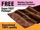 10 Chocolate Wedding Satin Table Runner Party Decorations Event