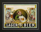 1879 German Lager Beer Bar Pub Sign Poster Print Bier