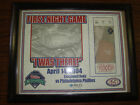 Philadelphia Phillies First Night Game Print in Frame---2004---Stadium Giveaway
