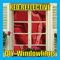 RED SOLAR REFLECTIVE ONE WAY MIRROR WINDOW FILM TINT
