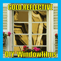 GOLD SOLAR REFLECTIVE ONE WAY MIRROR WINDOW FILM TINT