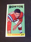 1965 Boston Patriots Billy Neighbors Topps Trading Card