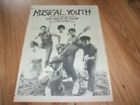 Musical youth-1983 poster size press advert