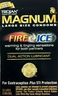 NEW TROJAN MAGNUM FIRE & ICE LUBRICATED CONDOMS 10 PACK