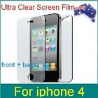 LCD Screen Protector Film Cover for Apple iPhone 4 4G