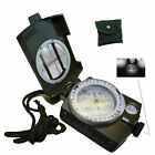 Military Army Compass with Neck Strap Belt Carry Pouch