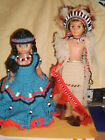 AMERICAN INDIAN DOLLS IN CROCHETED CLOTH-VERY UNIQUE