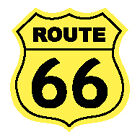 """ROUTE 66 ROAD SIGN 2"""" STICKER SET OF TWO STICKERS!!"""